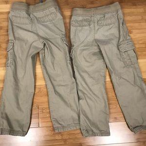 Carter's Bottoms - Bundle of Carter's Boys Khaki Cargo Pants Size 5